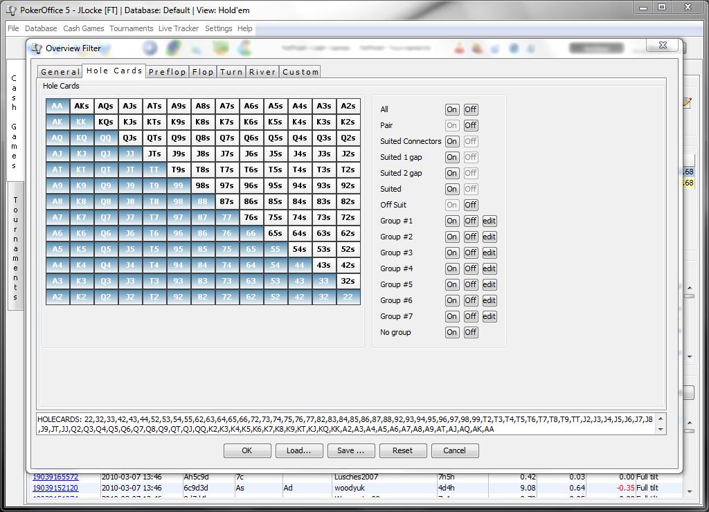 Фильтры PokerOffice