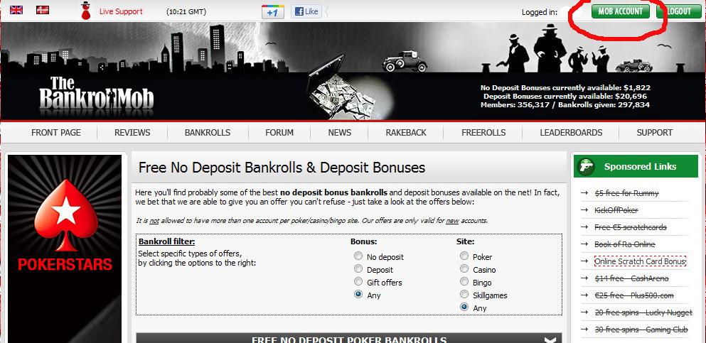 Бонусы BankrollMob
