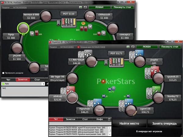 Игровые столы PokerStars